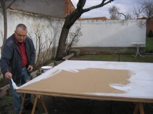 Preparando cuadros